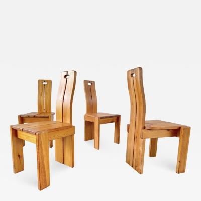 Pierre Chapo PIERRE CHAPO STYLE DINING CHAIRS SET OF 10
