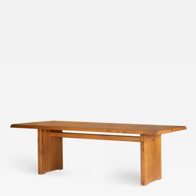 Pierre Chapo Pierre Chapo T14D Dining Table in Solid Elm France 1970s