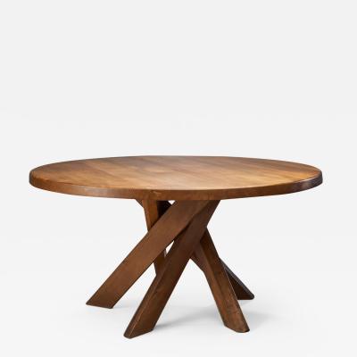 Pierre Chapo Pierre Chapo T21D Sfax Table in Elm France 1960s