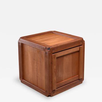 Pierre Chapo Pierre Chapo square elm B10 cupboard France 1960s