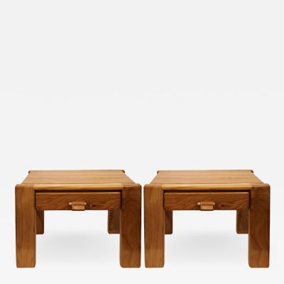 Pierre Chapo Two end tables in the taste of Pierre Chapo France 1960