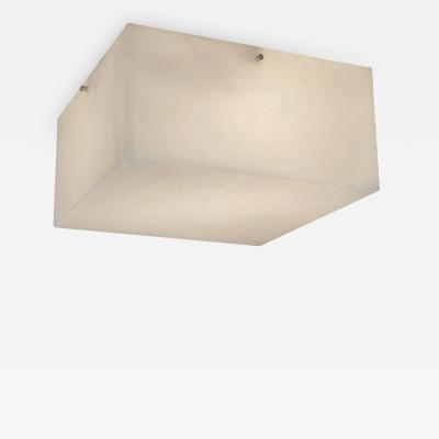 Pierre Chareau Large Titan Alabaster Wall or Ceiling Lamp in the Manner of Pierre Chareau