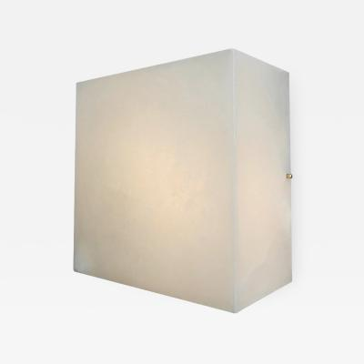 Pierre Chareau Titan Alabaster Wall or Ceiling Lamp in the Manner of Pierre Chareau