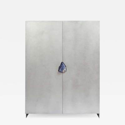 Pierre De Valck Hand Sculpted Cabinet with Original Lapis Lazuli Pierre De Valck