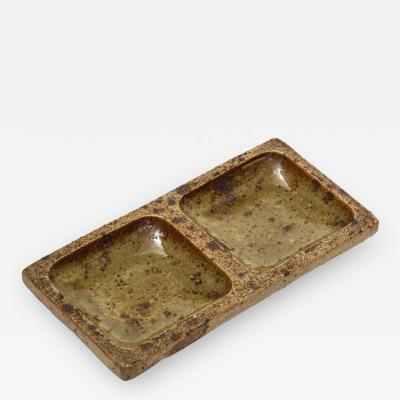 Pierre Digan Pierre Digan Two Compartment Ceramic Dish
