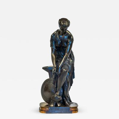 Pierre Eug ne Emile H bert A Fine Patinated Bronze Sculpture depicting Thetis