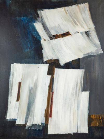 Pierre Fichet Midcentury Pierre Fichet Abstract Painting
