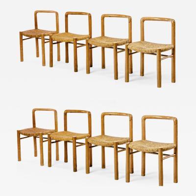 Pierre Gautier Delaye Gautier Delaye exceptional set of 8 alp style dinning chairs