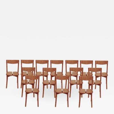 Pierre Gautier Delaye Pierre Gautier Delaye set of fourteen chairs France circa 1960