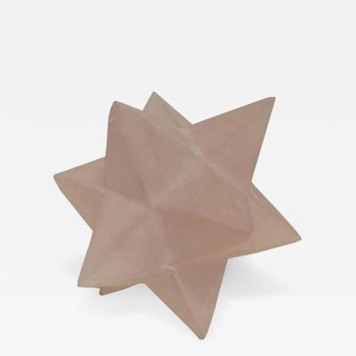 Pierre Giraudon A Multi Point Star Sculpture in Opaque Resin by Pierre Giraudon