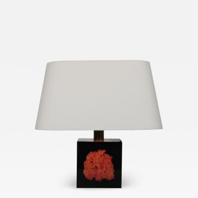 Pierre Giraudon Pierre Giraudon Resin with Coral Table Lamp France 1970