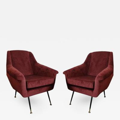 Pierre Guariche A Pair of Mid Century Club Chairs in the style of Pierre Guariche