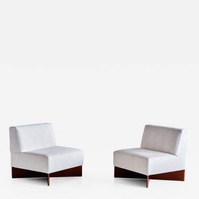 Pierre Guariche Pair of Pierre Guariche Capitole Chairs for Les Huchers Minvielle France 1960s