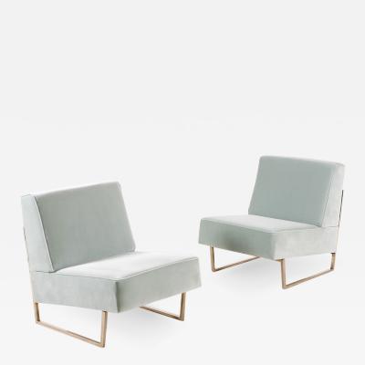 Pierre Guariche Pair of Pierre Guariche Courchevel Lounge Chairs for Si ges T moins 1959