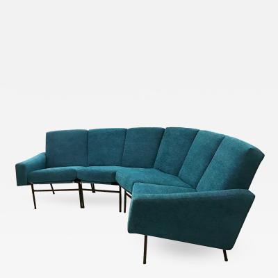Pierre Guariche Pierre Guariche Curved Sectional Sofa Model G10 Edited by Airborne France 1954