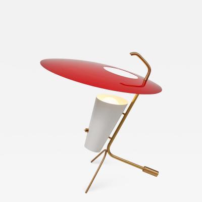 Pierre Guariche Pierre Guariche G24 Table Lamp in Red and White for Sammode Studio