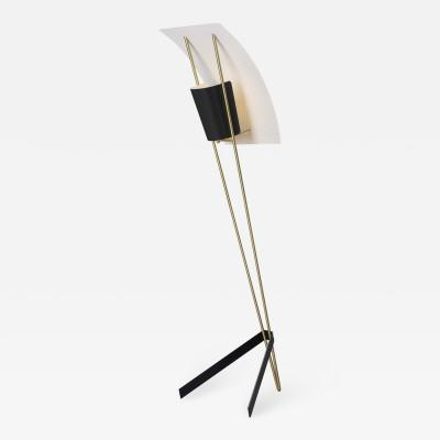 Pierre Guariche Pierre Guariche Kite Floor Lamp in Black and White for Sammode Studio