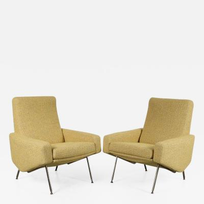 Pierre Guariche Pierre Guariche Troika Lounge Chairs for Airborne France 1960
