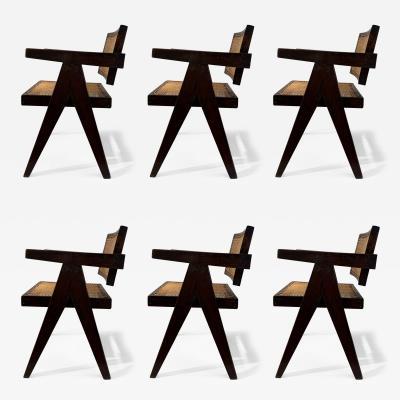 Pierre Jeanneret 6 Pierre Jeanneret Floating Back Chairs