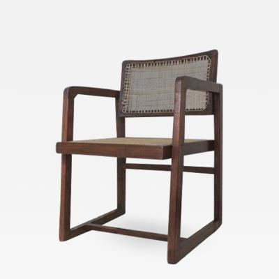 Pierre Jeanneret Box Chair with Cane