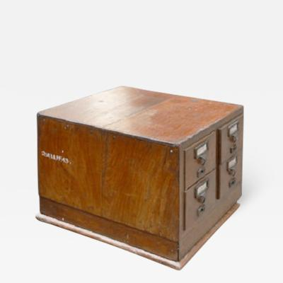 Pierre Jeanneret Box with 4 drawers and letters ca 1958 1963