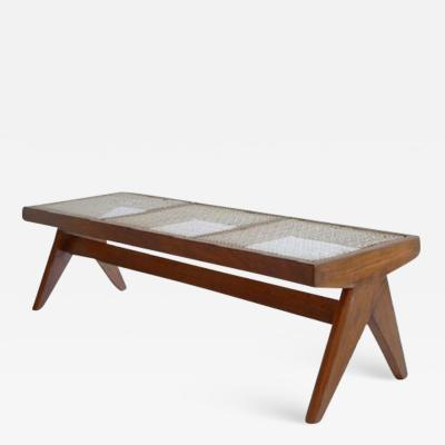 Pierre Jeanneret Caned Bench