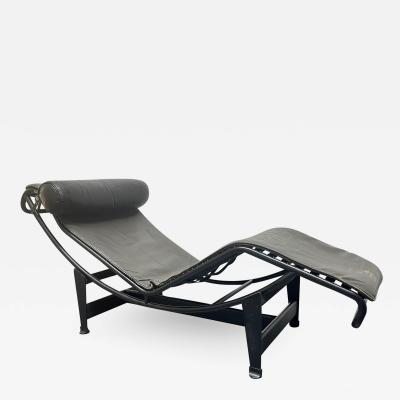 Pierre Jeanneret Charlotte Perriand Early Signed Le Corbusier LC4 Chaise Lounge for Cassina