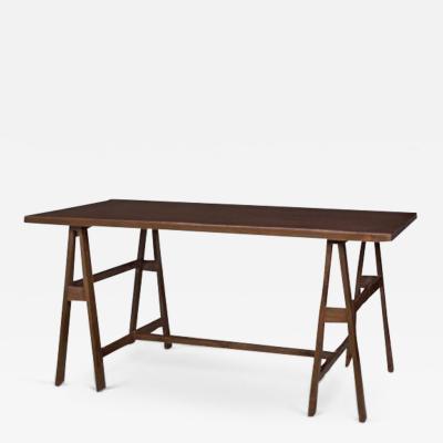 Pierre Jeanneret Collapsible console in solid teak and teak veneer ca 1960