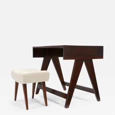 Pierre Jeanneret Desk Stool from the City of Chandigarh India