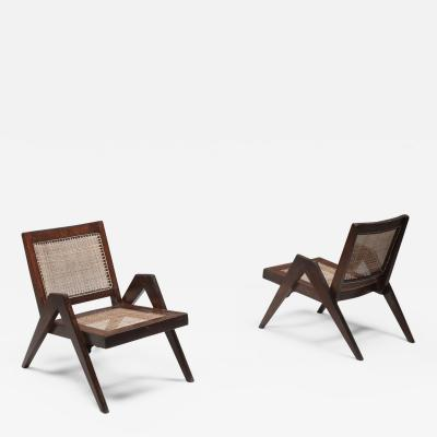 Pierre Jeanneret Easy Chairs by Jeanneret Chandigarh 1955