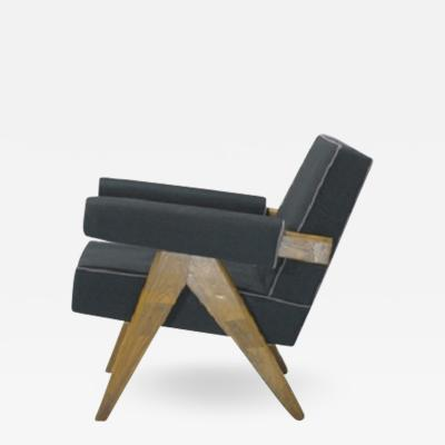 Pierre Jeanneret Easy chair with upholstery and A legs ca 1955