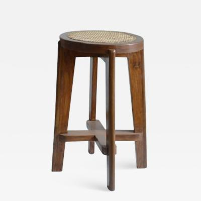 Pierre Jeanneret High Stool With Canework