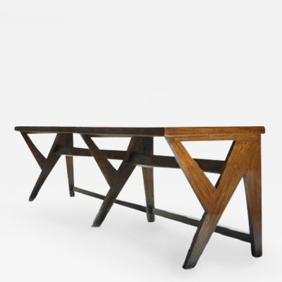 Pierre Jeanneret Large console with Y legs ca 1963