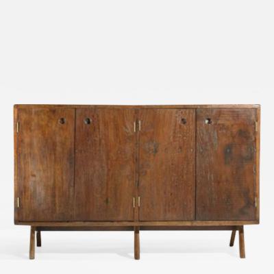 Pierre Jeanneret Low cupboard in solid teak