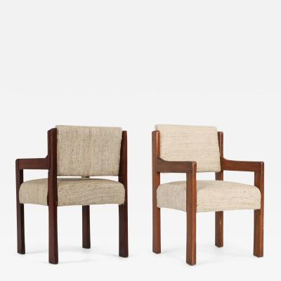 Pierre Jeanneret Pair of Chandigarh armchairs by Pierre Jeanneret 1960s