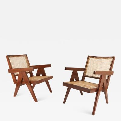 Pierre Jeanneret Pair of Pierre Jeanneret Easy Chairs