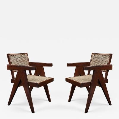 Pierre Jeanneret Pair of Pierre Jeanneret Office Chairs