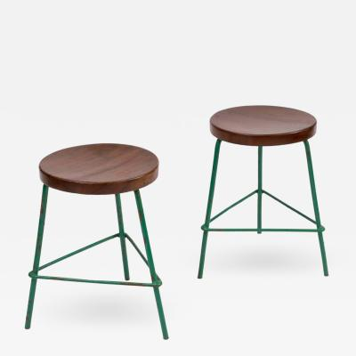 Pierre Jeanneret Pair of Stools by Pierre Jeanneret for College of Architecture Chandigarh