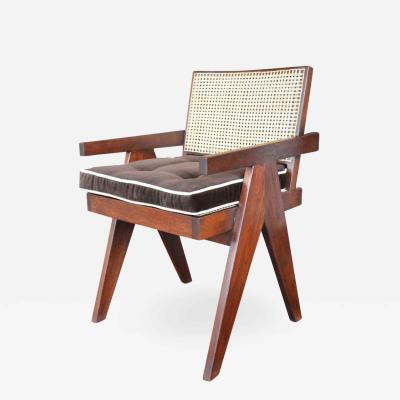 Pierre Jeanneret Pair of Teak Chairs in the Style of Pierre Jeanneret