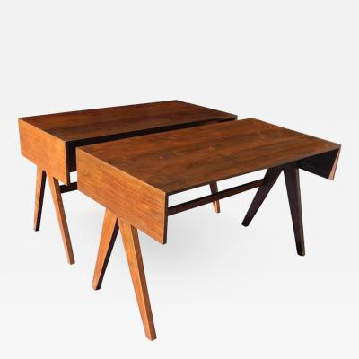 Pierre Jeanneret Pair of Teak Small Desks by Pierre Jeanneret from Chandigarh India