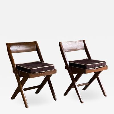 Pierre Jeanneret Pierre Jeanneret Eulie Chowdhury Library Chairs Model PJEC 010301 Chandigarh