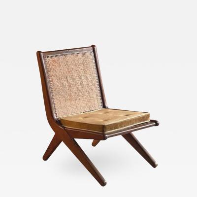 Pierre Jeanneret Pierre Jeanneret Model LC 010620 Teak Low Chair Chandigarh Circa 1956