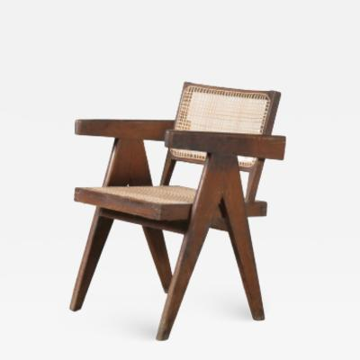 Pierre Jeanneret Pierre Jeanneret Office Cane Chair for Chandigarh India 1950