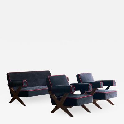 Pierre Jeanneret Pierre Jeanneret PJ 010806 Easy Lounge Sofa Armchairs Set 2 1958 59
