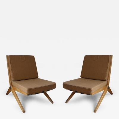 Pierre Jeanneret Pierre Jeanneret Scissor Chairs for Knoll