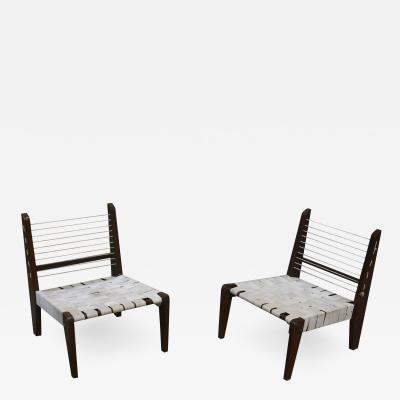 Pierre Jeanneret Pierre Jeanneret Very Rare Pair of Demountable Armless Chairs