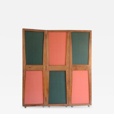 Pierre Jeanneret Screen 1957 1958 with three double sided panels