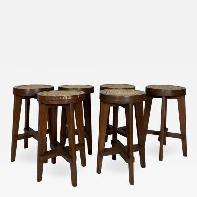 Pierre Jeanneret Set of Six Stools