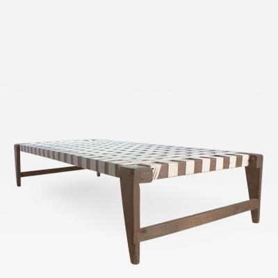 Pierre Jeanneret Single bed without headrest ca 1955 1956
