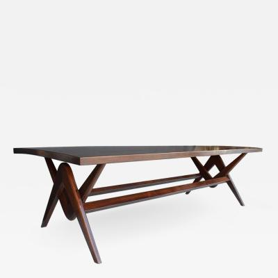 Pierre Jeanneret Teak Desk and Dining Table in the Style of Pierre Jeanneret